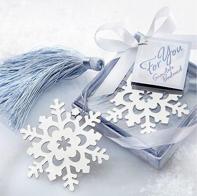 Marcador de Livro em forma de Floco de Neve