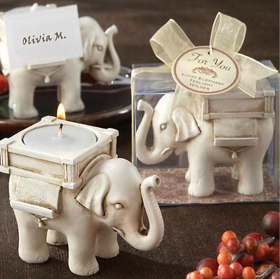 Suporte para Velas em formato de Elefante da Sorte