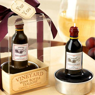 Velas em forma de garrafa de Vinho de reserva vintage