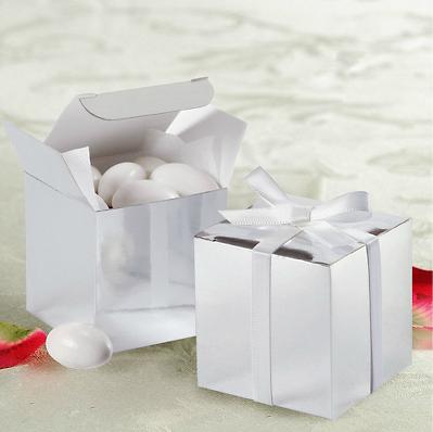 Caixas de Lembrancinhas de Casamento Prateada
