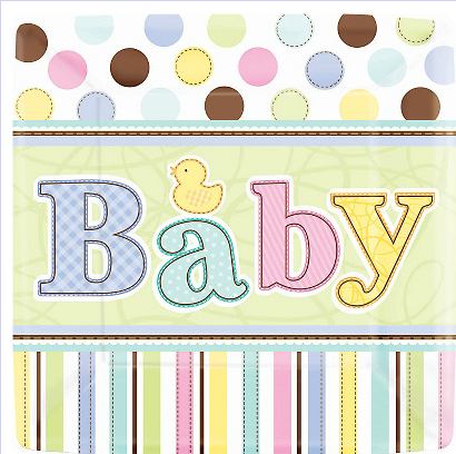 "Kit Chá de Bebê ""Mini Bolinhas"""